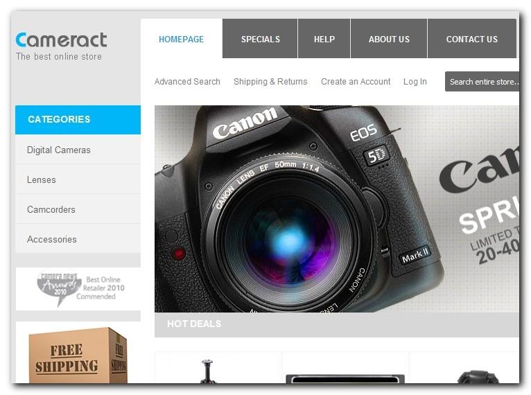 Spletna trgovina Cameract