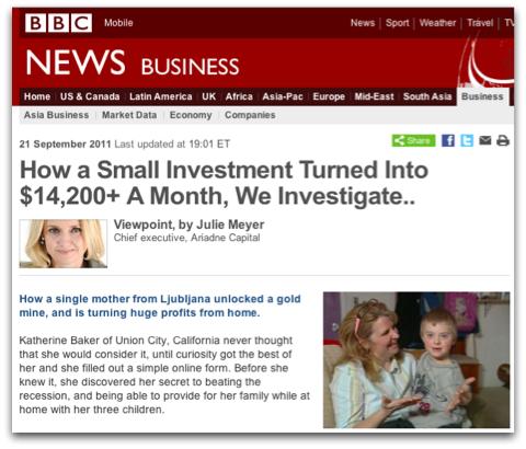 Slika lažnega spletnega mesta BBC