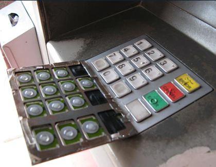 Primer prirejene tipkovnice za zajem varnostne PIN kode