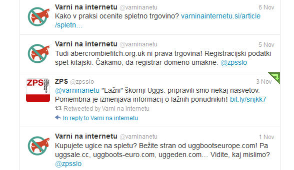 Prikaz Twitter obvestil Varni na internetu in ZPS o lažnih spletnih trgovinah