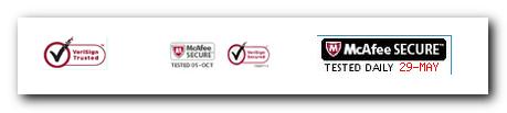 Posnetek secure oznak, ki jih lahko najdemo na oglaševanih trgovinah