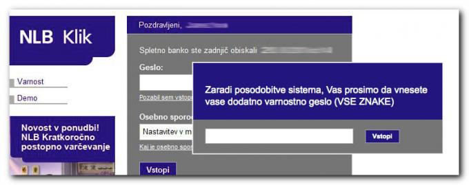 Vizualni prikaz NLB klik trojanca