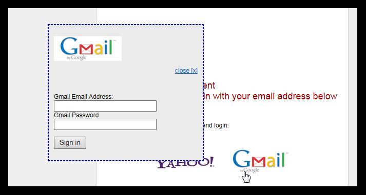 Gmail phishing obrazec