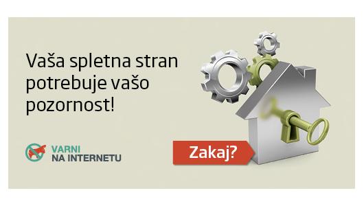 Naslovnica priročnika Varnost spletnih mest