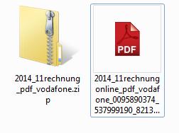 Slika zip arhiva, v katerem naj bi se nahajal pdf dokument