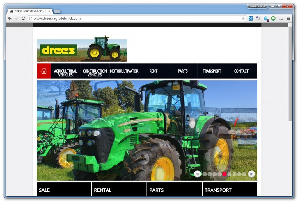 Lažna spletna stran drees-agrotehnick.com