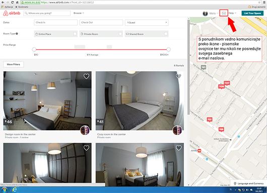 Slika neverjetno dobre ponudbe apartmaja na airbnb.