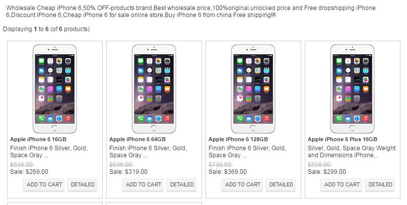 Poceni iPhone v lažni spletni trgovini.