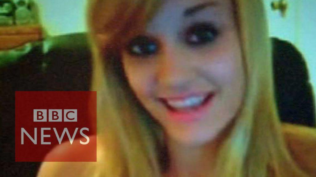 Fotografija obraza dekleta, o katerem je poročal BBC news
