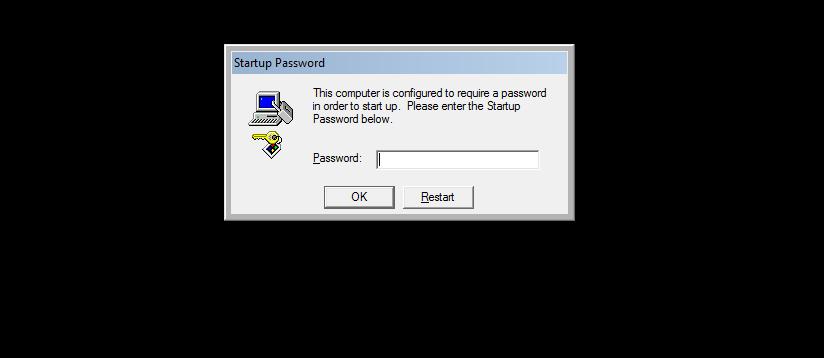 Poziv za vpis gesla na zaklenjenem računalniku