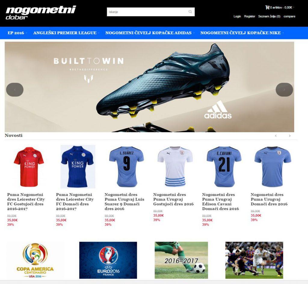 Lažna spletna trgovina z nogometnimi dresi