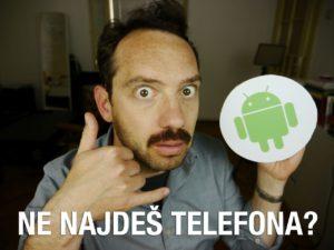Naslovna slika videa, na kateri je Jože, ki z roko ponazarja telefon, v drugi pa drži kartonast simbol za Android