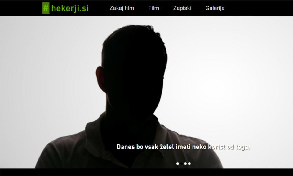 Posnetek zaslona iz dokumentarnega filma o slovenskih hekerjih.