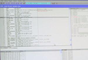 Posnetek zaslona, ki prikazuje kodo