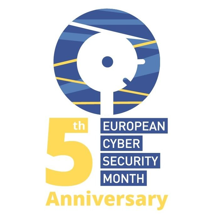Grafika za 5. obletnico Evropskega meseca kibervarnosti