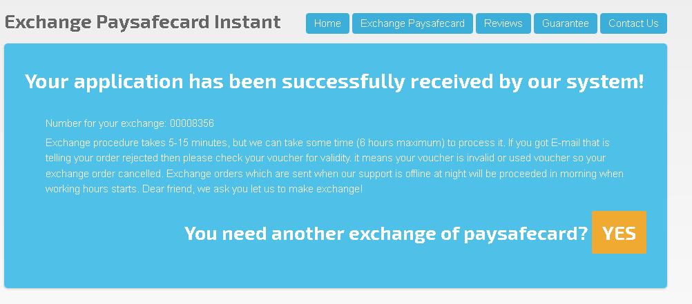 Lažno obvestilo o opravljeni transakciji