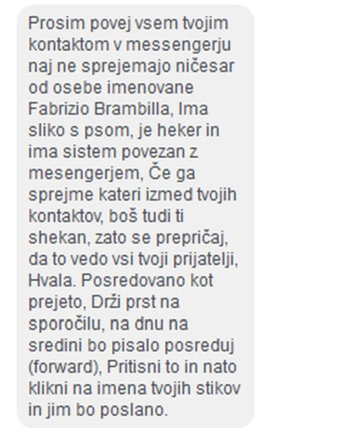 Sporočilo o hekerju Fabriziu Brambillu