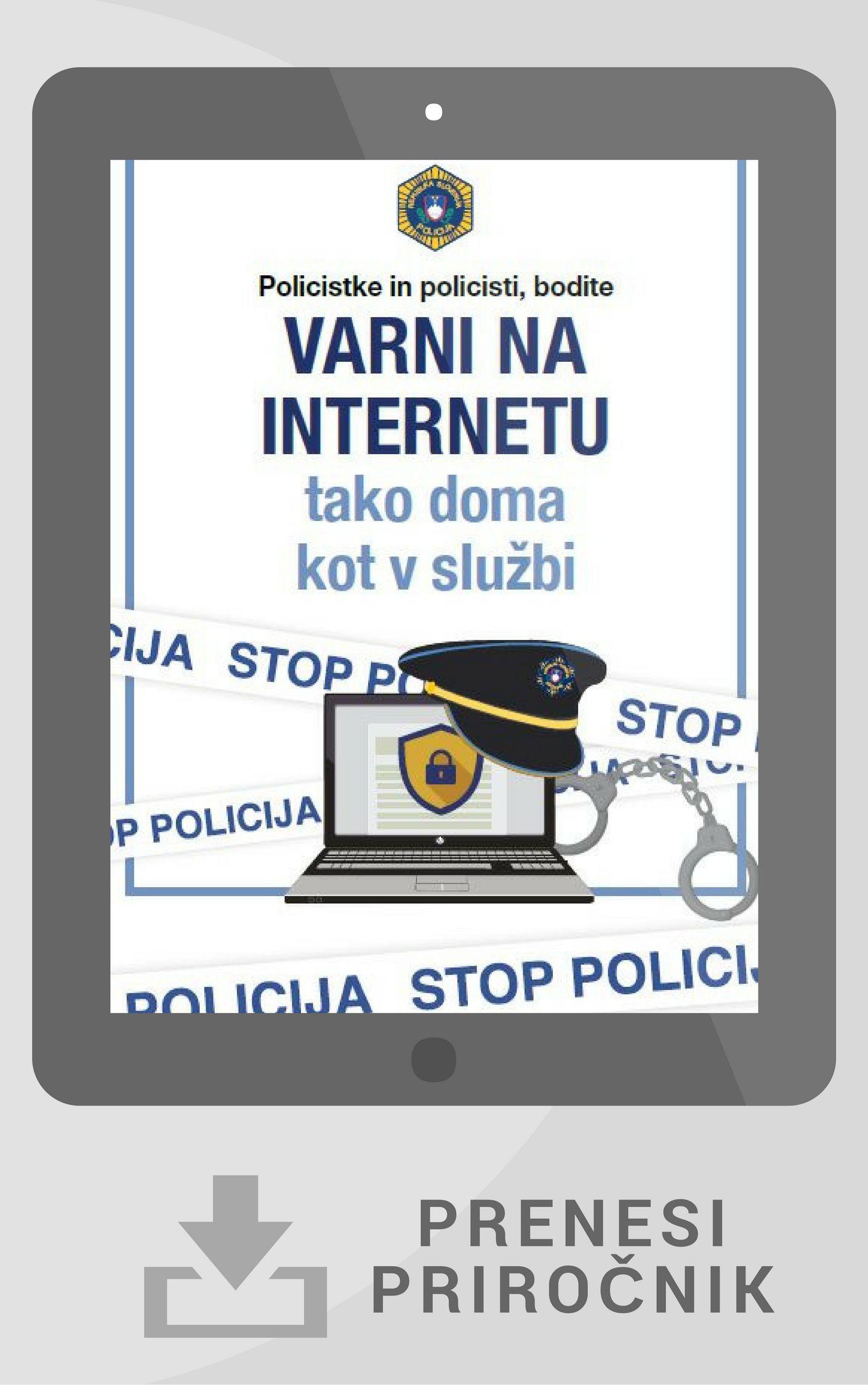 Naslovnica priročnika za zaposlene v Policiji