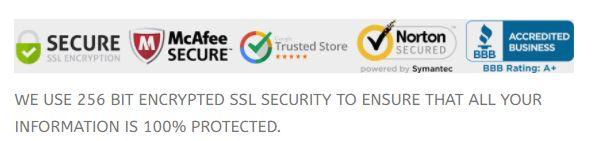 Slika, ki prikazuje certifikate spletne strani