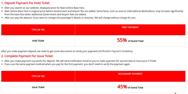 Elektronsko sporočilo s strani ponudnika, v katerem piše, da smo plačali le 55% cene letalske karte