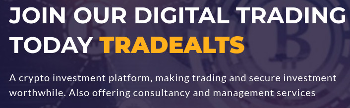 """Napis"""" Join our digital trading today tradealts"""""""