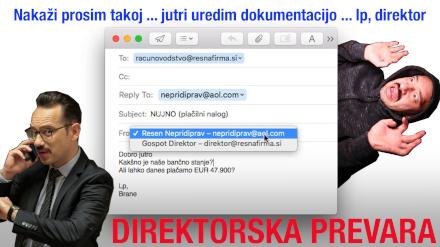 Thumbnail videa, na kateri je Jože Robežnik v vlogi direktorja in nepridiprava