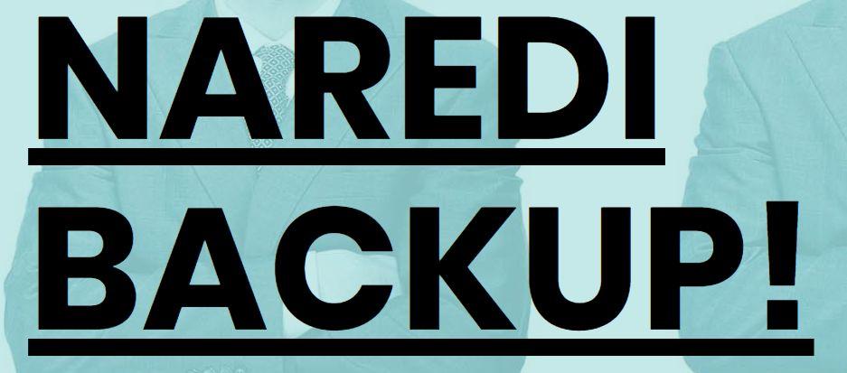 Napis: Naredi backup!