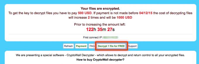 Obvestilo izsiljevalskega virusaTeslaCrypt