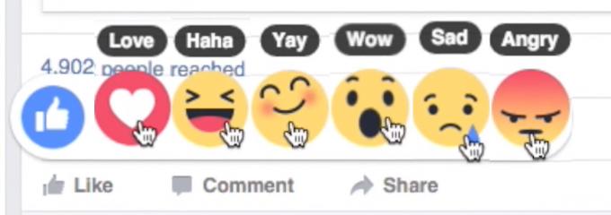 Tako bodo izgledali novi gumbi. Na žalost vam ne preostane drugega kot čakati, da jih Facebook sam uvede.