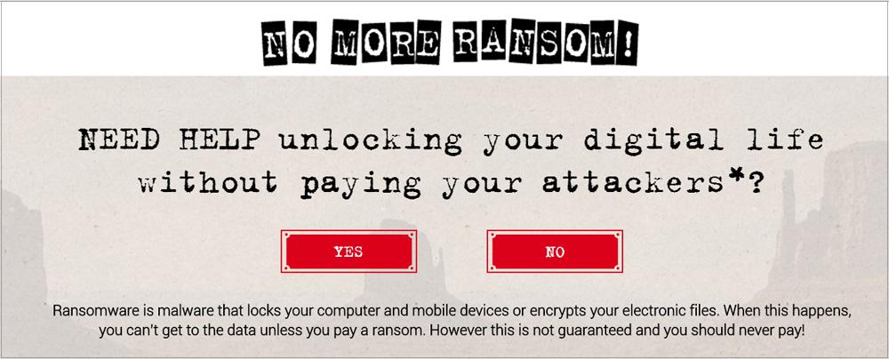 NoMoreRansom.org je spletna stran Interpola, kje so objavljena vsa trenutno dostopna orodja za odšifriranje dokumentov.